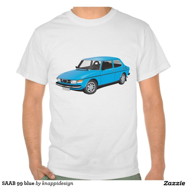 SAAB 99 blue tshirt  #car #bil #auto #tshirt #troja #paita #saab #saab99 #svenska #swedish #sverige #sweden