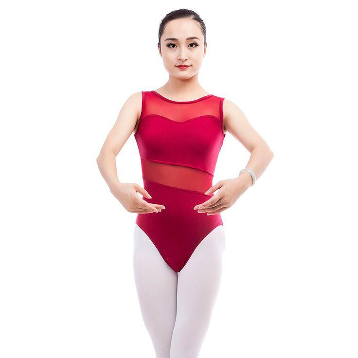 Hot wholesale Adult Ballet Leotards Bodysuit Black Vest Ballet Dance Wear Sexy perspective Gymnastics Leotard For Women 2 colors #Affiliate