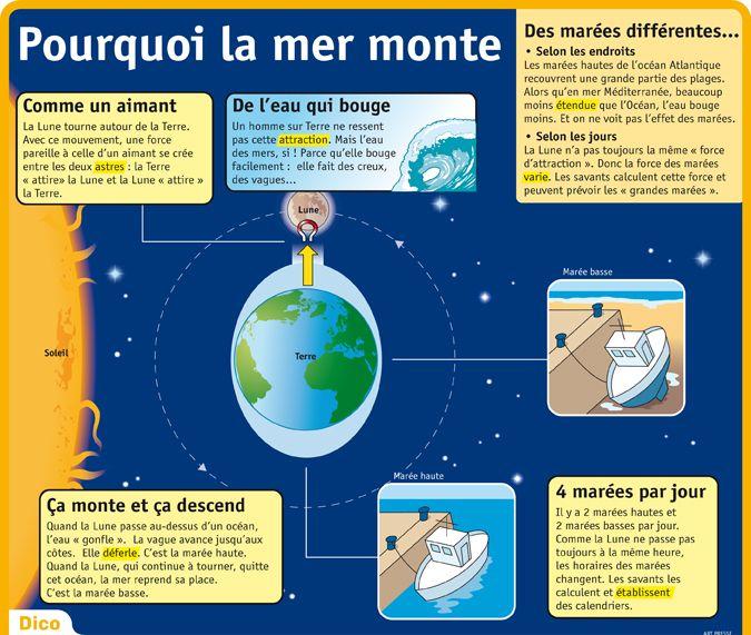 Fiche exposés : la Lune - pourquoi la mer monte ?
