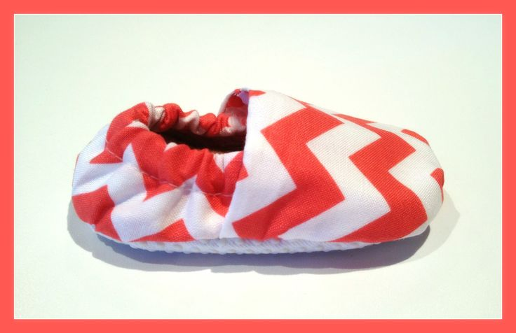 Coral Chevron Baby Booties  www.bellababybooties.weebly.com
