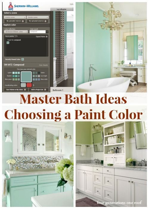 Master Bathroom Ideas Green Colors Master Bath And