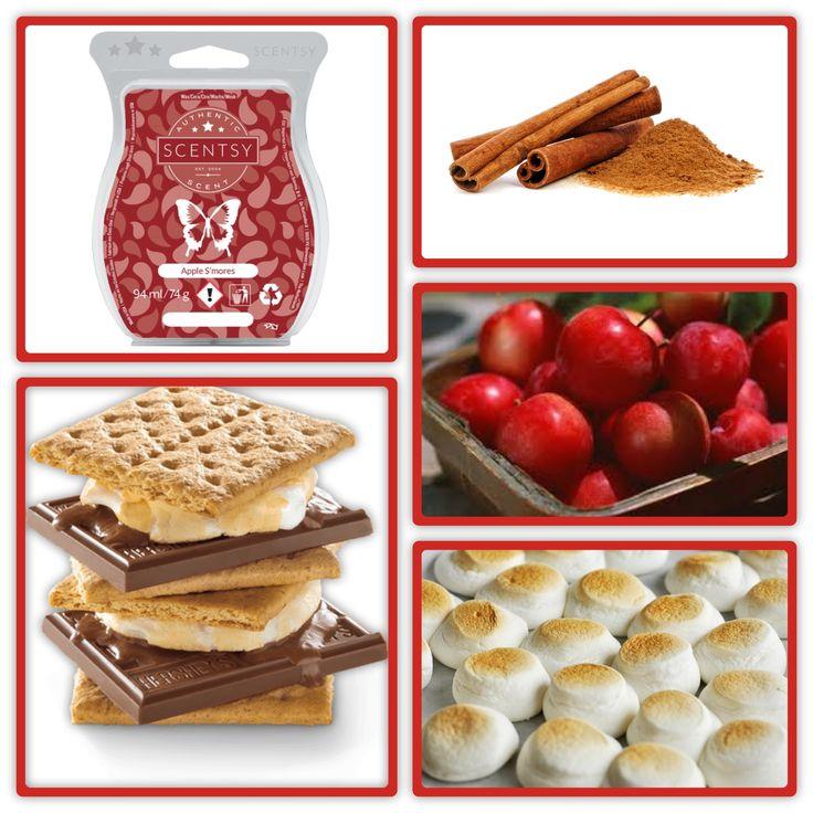 APPLE S'MORES SCENTSY BAR Harvest apples, cinnamon glaze