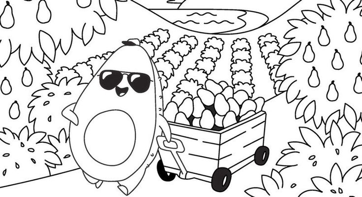 Avocado Garden Coloring Sheets di 2020 (Dengan gambar)