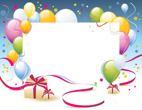 Birthday Transparent PNG Photo Frame | Birthday cards | Pinterest