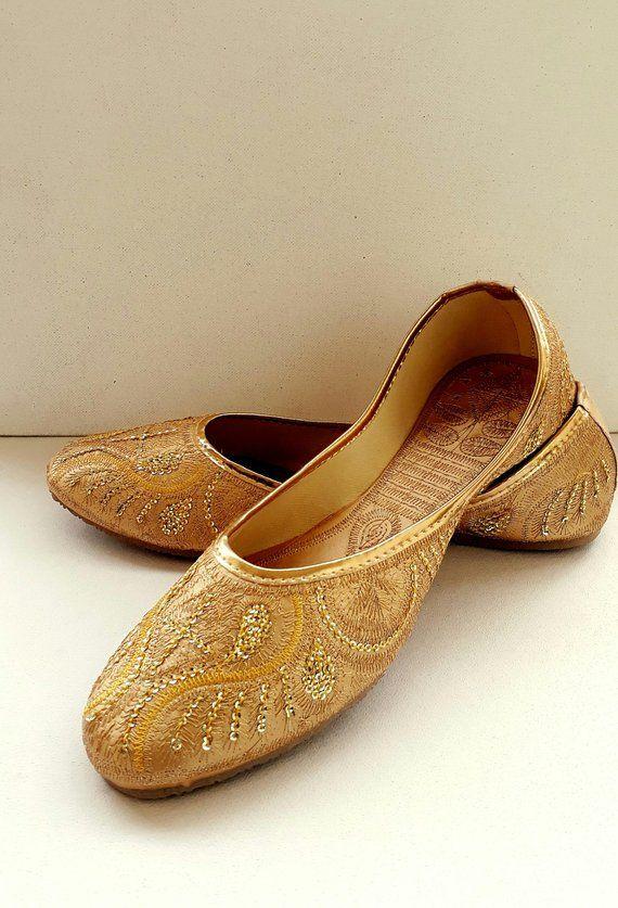 047a496605ed Gold Flats Wedding Flats Women Ballet Flats Women Shoes Gold Wedding Shoes Embroidered  Bridal shoes