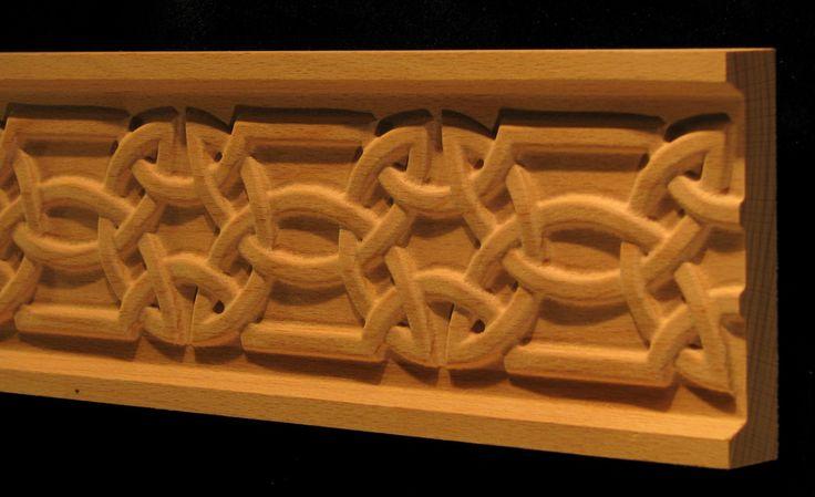 Carved Wood Frieze Celtic Knot 2 Carved Celtic Gothic