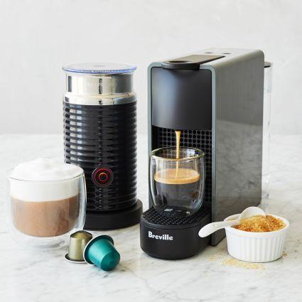 Nespresso Essenza Mini Espresso Machine by Breville with Aeroccino3 Frother | Sur La Table