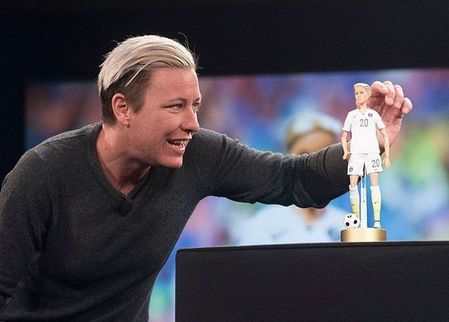 The US soccer player and out athlete is being immortalized in doll form: 'It just proves that we really are getting somewhere'