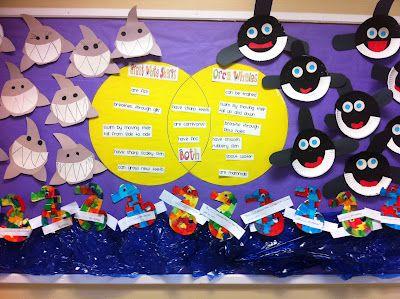 ocean themeOcean Theme, Animal Theme Bulletin Board, Ocean Bulletin Boards, Teaching Ocean Animal, Classroom Ideas, Ocean Life, Compare Contrast, Ocean Activities, Ocean Animals
