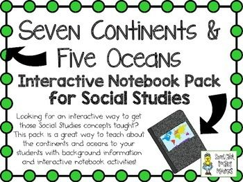 $ Continents and Oceans of the World ~ Social Studies Intera