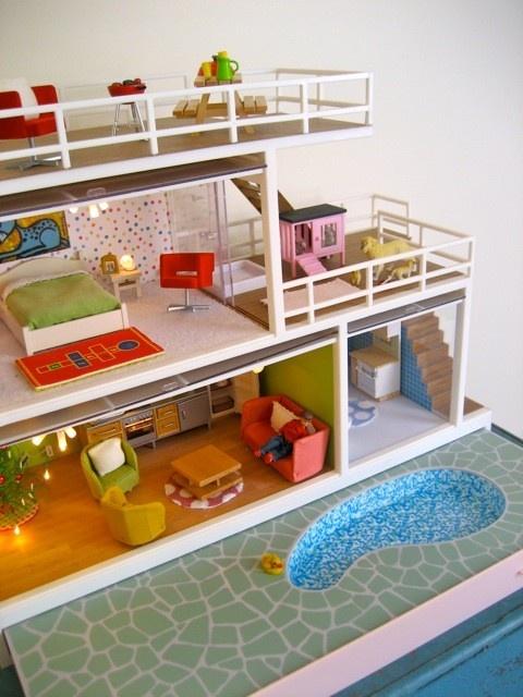 Vintage Mod Dollhouse Maisons Miniatures Pinterest Barbie House Vintage Dollhouse And