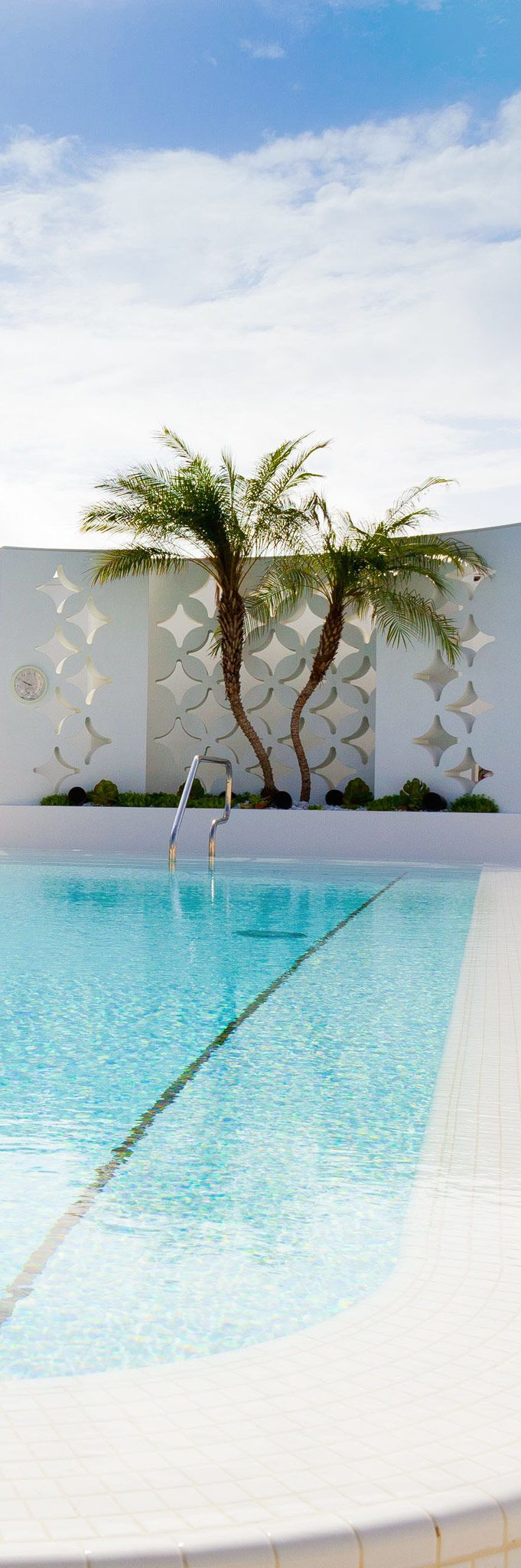 147 best images about retro concrete wall screen designs - Palm beach pool ...