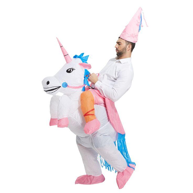 HOT Adulto Costumi Di Halloween Gonfiabili Costumi Ride on Cielo Cavallo Unicorno Aria Che Soffia Fino Vestiti Costumi Divertenti