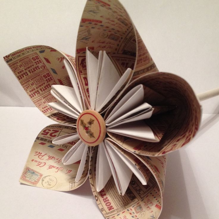 Christmas paper flowers different paper designs available