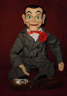 Ventriloquist doll EYES FOLLOW YOU Dummy Slappy prop creepy puppet