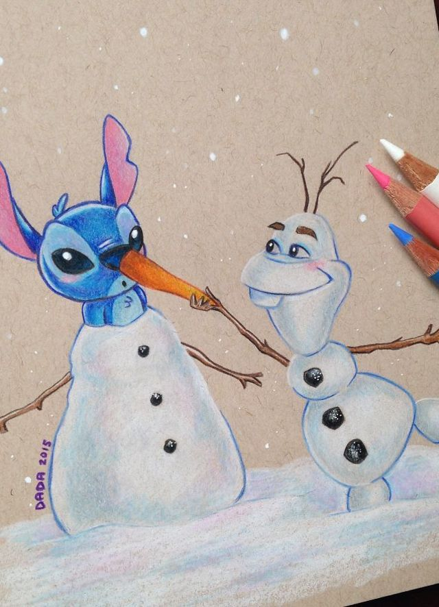 We always wanted to see Stitch With Olaf