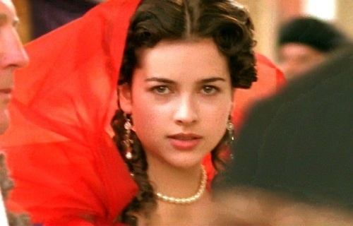 Amelia Warner as Lorna Doone- in a wonderful scene that showcases the haunting theme song as well as the hero's glimpse of his lady fair- romantic, indeed!