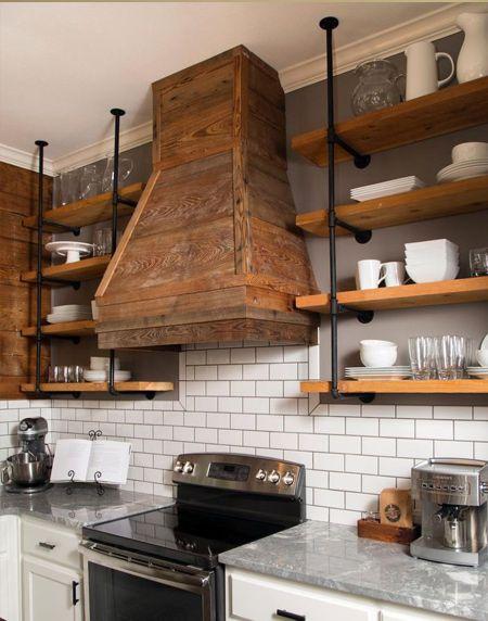 Easy shelf ideas that you can DIY pipe brackets