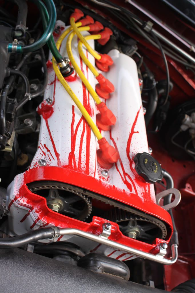 Custom, cut Mazda Miata Valve cover. I don't care about a Mazda, but this will make you do a double take!