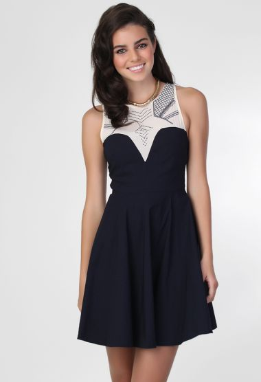 Wild Pair Tepa Dress in Navy