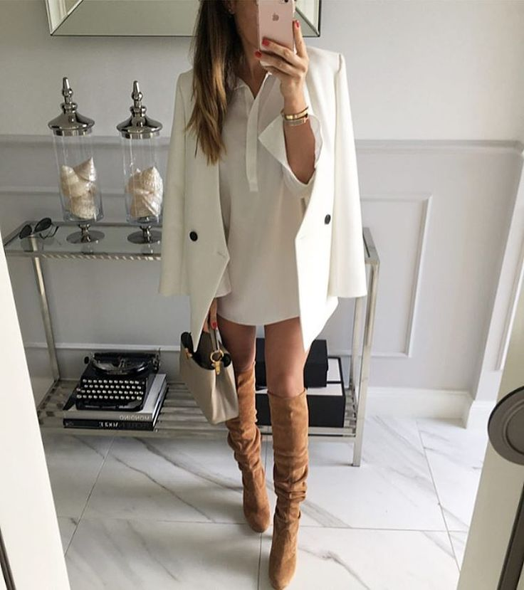 The elegance of white blazer.