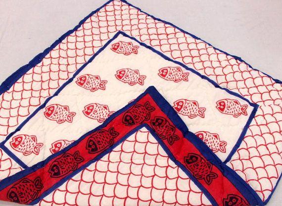 Baby Quilt Kantha Quilt Indian Handmade QuiltHand Block