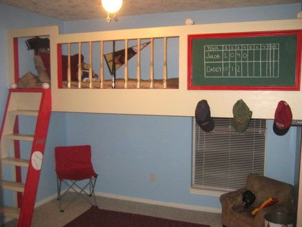 http://lumberjocks.com/projects/12889 cute loft bed idea for the boys room