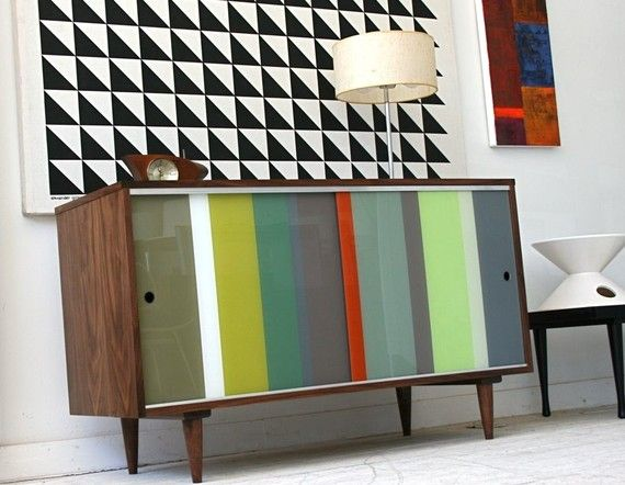 4ft Modern walnut Lucite storage credenza ALL custom think this could be amazing either for below TV or as sideboard for your desk?