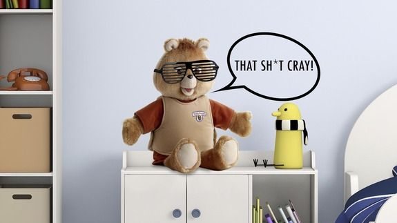 Kanye West as Teddy Ruxpin's voice is the greatest