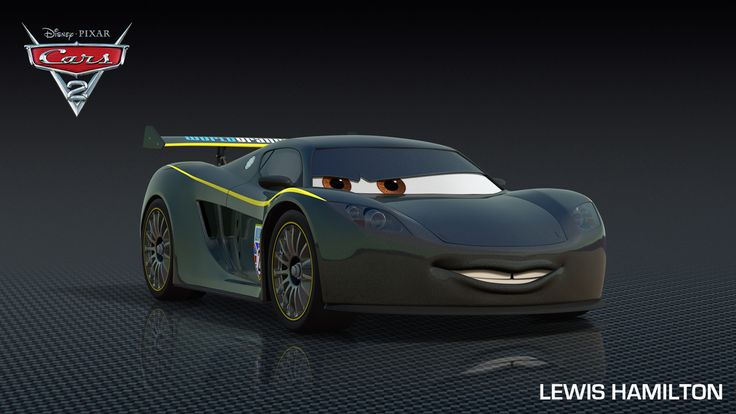 "Lewis Hamilton's character in the Pixar movie ""Cars 2."""