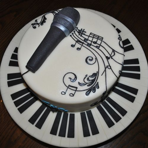 13 best Moms microphone cake ideas images on Pinterest