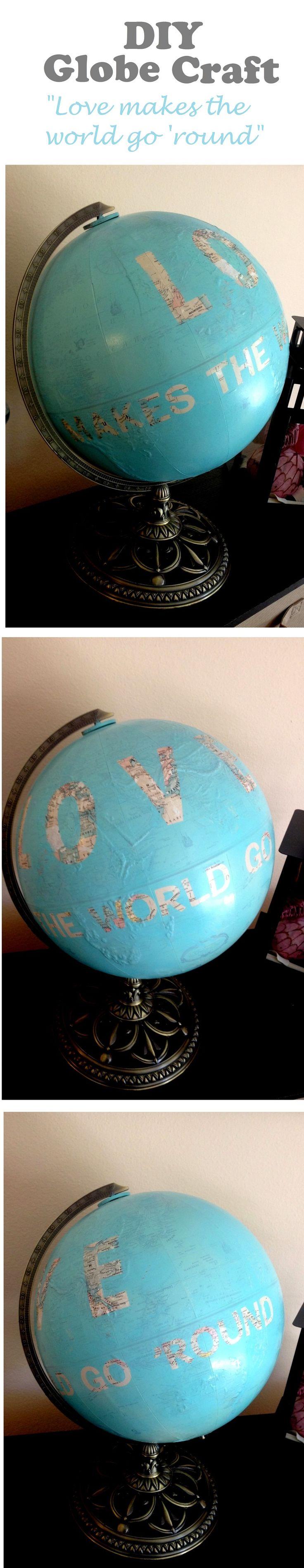 DIY world globe craft- click for tutorial!