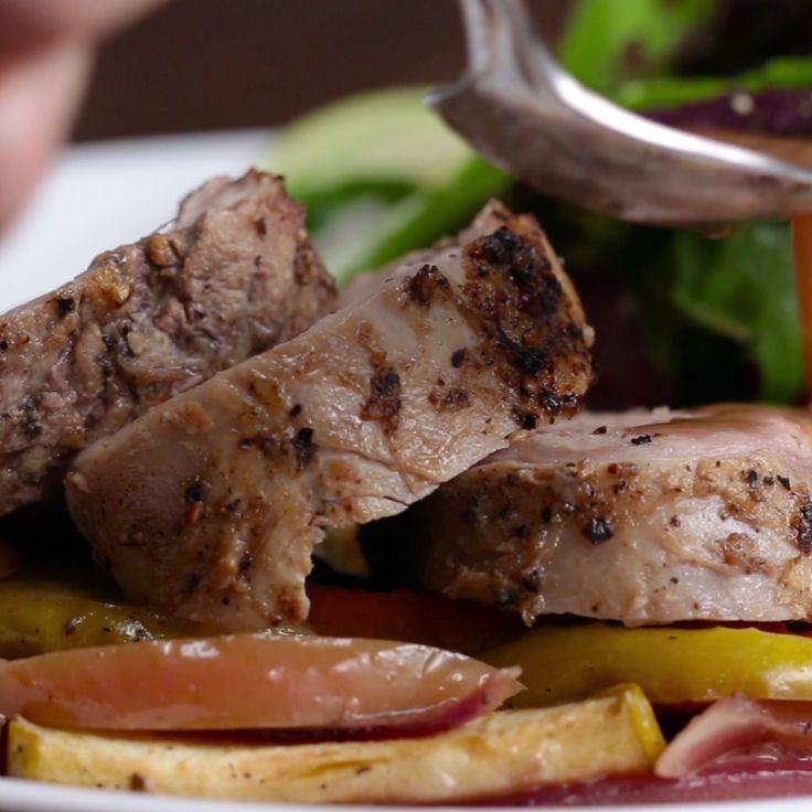 Easy One-Pan Pork Tenderloin Dinner