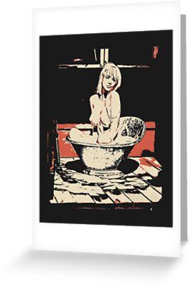Milky bath - sexy nude blonde girl bathing  by piciareiss