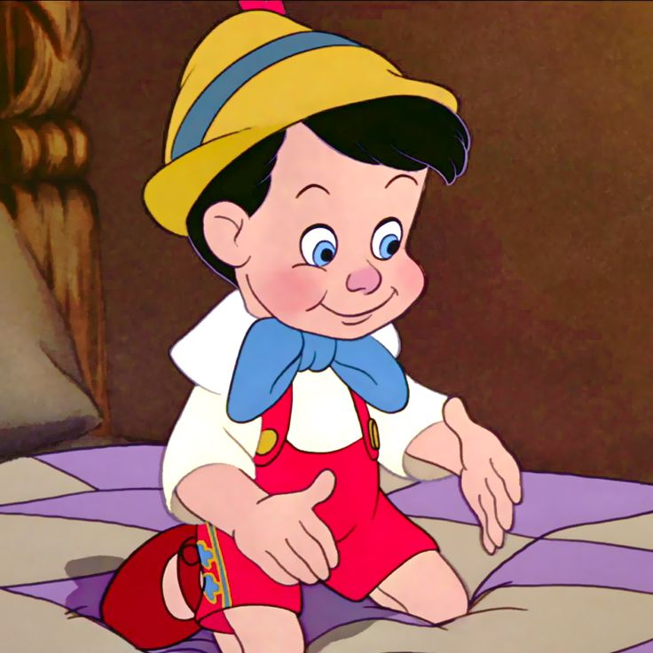 Pinocchio.. I love when he's finally a real boy!