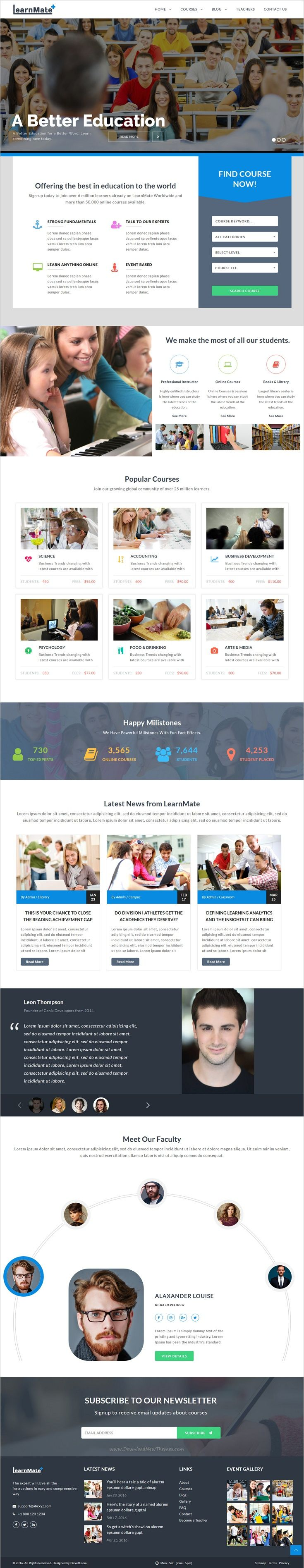 25 beautiful college website ideas on pinterest university tips learnmate learning college courses education html template pronofoot35fo Choice Image