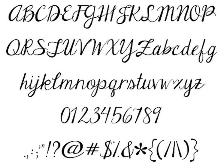 Janda Elegant Handwriting Font Best Tattoo Design By Kimberly Geswein