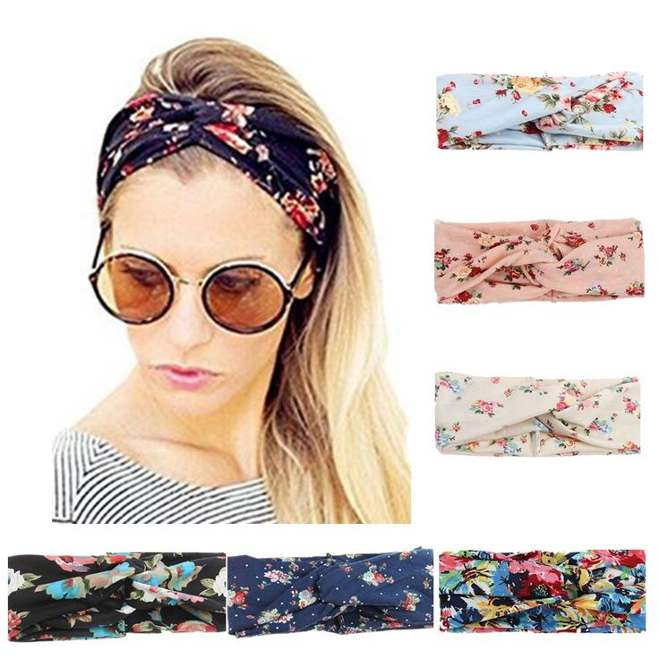 Women Turban Headbands Hairbands Headwraps Hair Bows for Teens Girls Accessories (Twisted Hair Bands 6pcs)