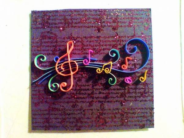 Musical magic ~ colorful quilling