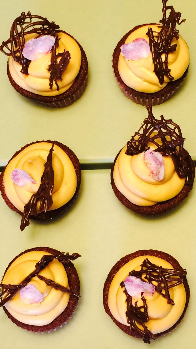Chocolate & Peanut Butter Cupcakes by Marika