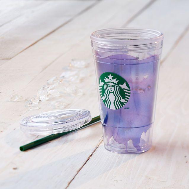 Gobelet pour boissons froides aquarelle - Violet, 473ml/16oz liq. | Boutique Starbucks® France (FR)