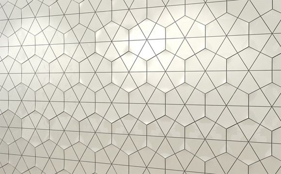 Backsplash: Feza Ceramic Tile - Academy Tiles. Might be too big to get full impact, maybe a whole wall.