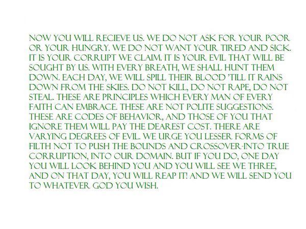 boondock saints quotes courtroom speech - Google Search