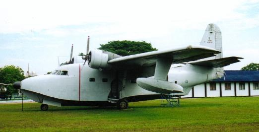 Two Albatross utility aircraft were operated by the Royal Malaysian Air Force  from 1986 to 1993. Pictured here is RMAF s/n: M35-01, (c/n: G-451), which  was originally built as a CSR-110 (HU-16B) for the RCAF in 1960 and  was delivered with RCAF s/n: 9303.  RMAF Museum, Kuala Lumpur, Malaysia, 2003.