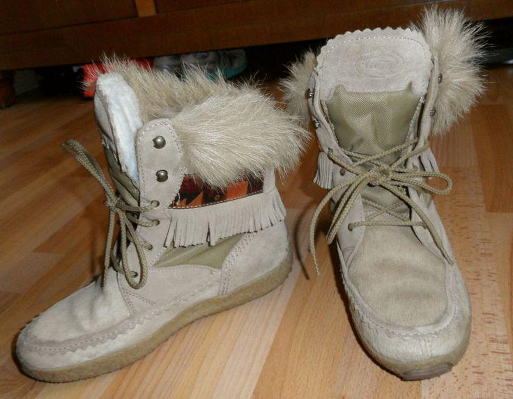 Tecnica: Schnee-Stiefeletten / Boots: Gr. 39,5 (US 8) Seehundfell - TOP!