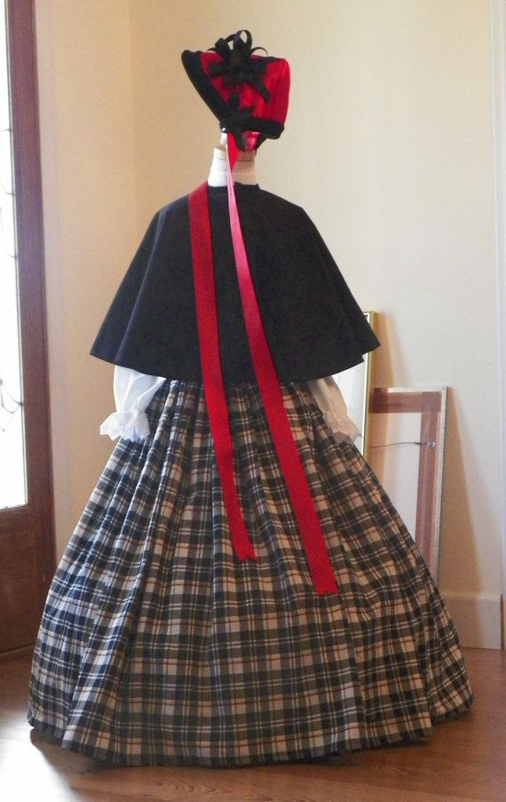 Victorian dickens christmas carolers holiday parade child s cape skirt