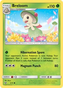 Serebii net TCG Shining Legends - #5 Breloom | pokemon