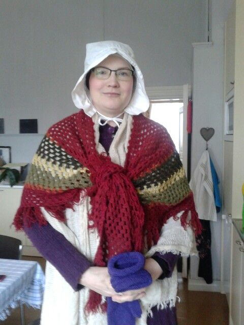 Me as a maid in Finland's national writers Runeberg museum 2015