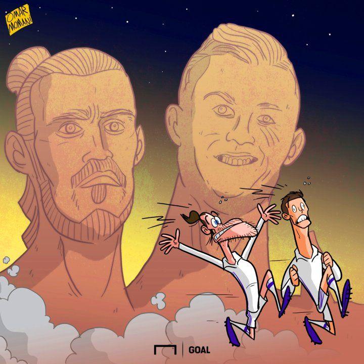 Гарет Бэйл стал новой «жертвой» создателя безобразного бюста Роналду - Футбольные карикатуры - Блоги - Sports.ru