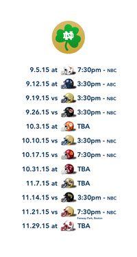 2015 Notre Dame Football Schedule Digital Wallpaper